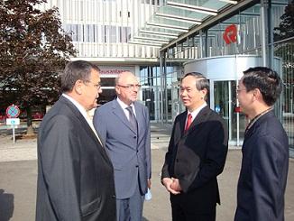 Bộ trưởng bộ công anh thăm và làm việc với tập đoàn ROSENBAUER